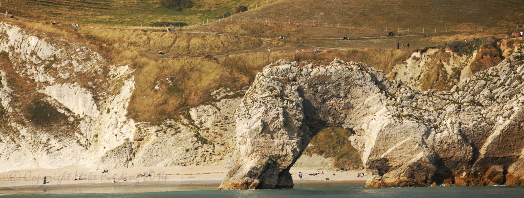 The Dragon Drinks at Durdle Door, Jurassic Coast